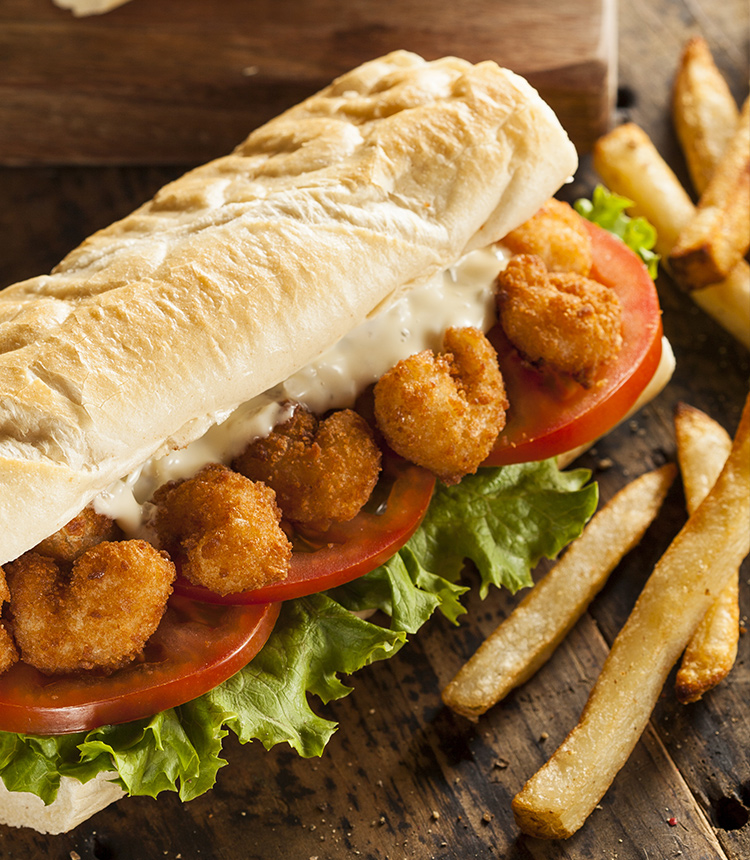 Zesty Shrimp Po-Boy
