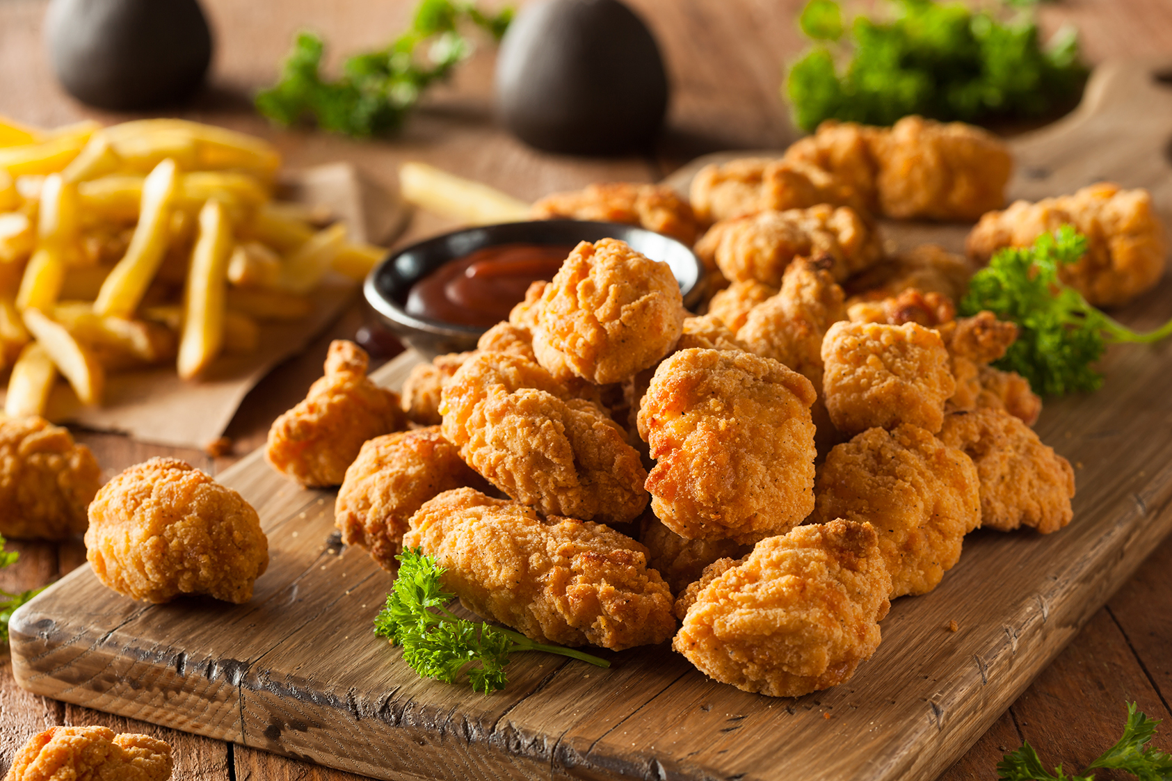 Crispy Breast Nugget Basket (5) or (10)