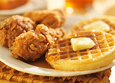 Delicious Wings and Waffle